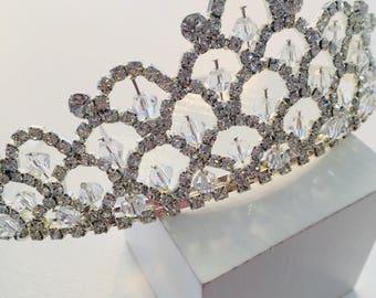 Large crystal tiara