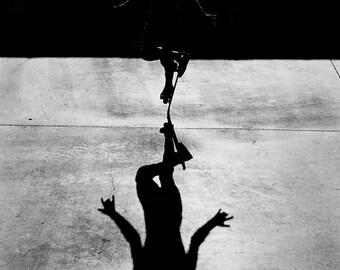 Rodney Mullen Eighties 2X3 Feet Skateboarding Photo - Freestyle Silhouette At Del Mar Skateboard Ranch 80s Skate Photo