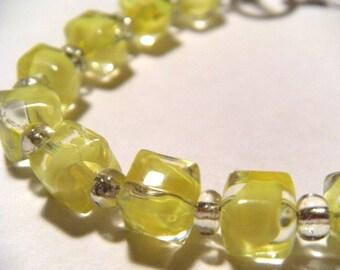 Yellow Glass Bracelet