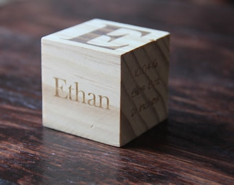 Personalized Baby/Adoption Block- 2inch