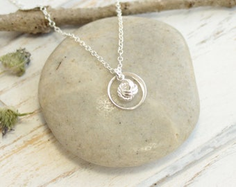 Tiny Sterling Silver Eternity Love Knot Necklace