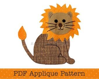 Lion Applique Template. Lion Face Applique Pattern. Jungle Animal. Make Your Own Lion Appliques. PDF Pattern by Angel Lea Designs