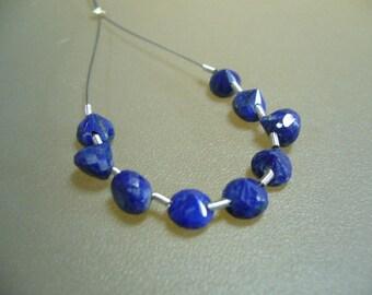 Lapis Lazuli Faceted Onion Briolettes Set of 9