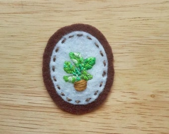 Houseplant: Friendly Fronds (Patch, Pin, Brooch, or Magnet)