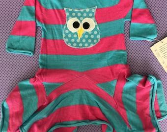 Organic Owl knit dress 6-12mo