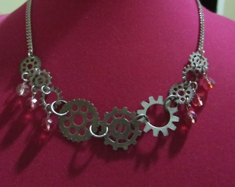 Gear Steampunk Necklace