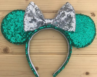Teal Minnie Mouse Ears