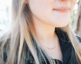 Vaduz Necklace: Gold-filled Tube Necklace