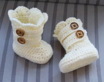 Crochet Boots Pattern, Crochet Booties Pattern, Baby Booties Pattern, Crochet  Baby Boots Pattern, Classic Snow Boots