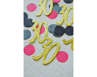 30th BIRTHDAY. 30 Confetti. Table Scatter. DIRTY THIRTY. 30th Birthday. Thirty. 30th Birthday Theme. Confetti.