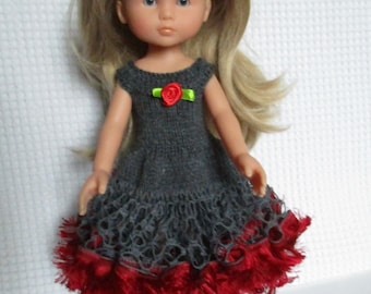 Grey dress with Ruffles for the sweethearts doll.