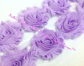 "2.5"" Violet Shabby Flowers"