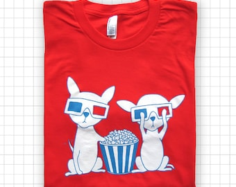 Chihuahuas In 3D ADULT T-shirt Womens SMALL