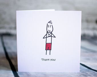 Thank you x10 cards (boy)