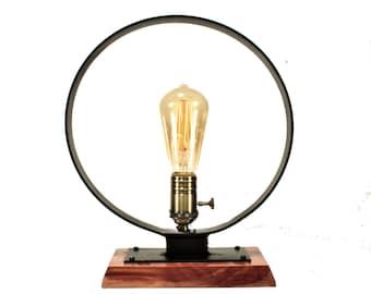 Bare Bulb Table Light | Steampunk Table Lamp | Industrial Table Lamp | Steampunk Light | Industrial Light | Steampunk Lamp Light