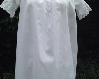 Victorian cotton night gown