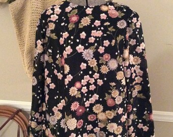 Lovely 70's Straight Floral Dress
