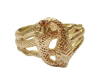 Silver/Gold/Platinum Snake Ring