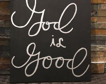 God is Good wooden Sign