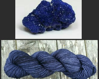 Hand Dyed Yarn, Superwash Merino Worsted Weight Tonal Yarn Perfect for Hats, Cowls, Scarves and Sweaters - Azurite