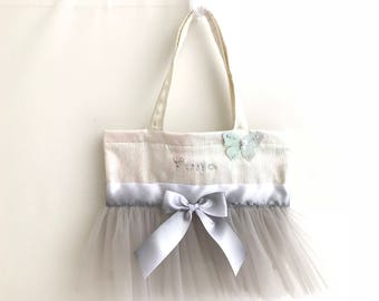 Girl Personalized bag. Personalized dance bag. Girl dance bag. Girl tote bag.