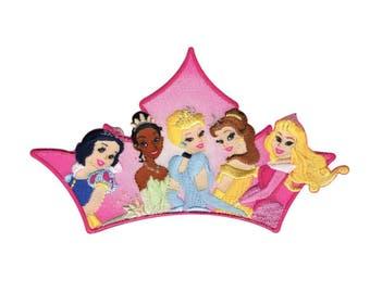 Princesses Iron On Applique, Genuine Disney Iron On Patch, Princess Patch, Disney Princess Applique, Disney Applique, Kids Patch