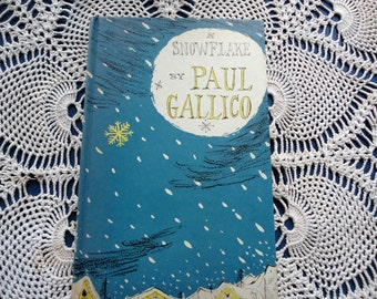 Snowflake By Paul Gallico Hardcover Book Classic Children's Vintage Christmas Story Book