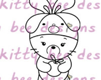 Pup Beanie Bun  Digital Stamp