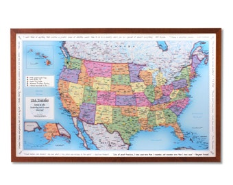 USA Personalized Traveler Map