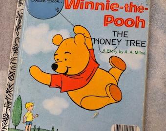 Vintage Children's Book  Winnie the Pooh the Honey Tree Little Golden Book