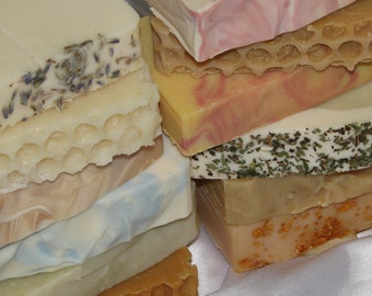 ALL NATURAL SOAP by Cold Process - Pick your scent from Wild Herb Soap Co. - Full Size Bars Made From Scratch