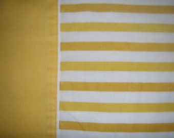 Standard Gold Striped Pillowcase