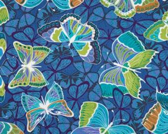 76023  Free Spirit Valori Wells Cocoon  Liv in sapphire color -1/2 yard