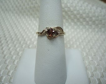 Round Cut Red Sapphire Ring in Sterling Silver   #1969