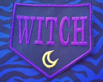 Embroidered patches in Witch's thread feminist hag 9cm approximately