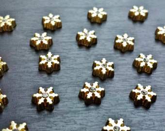 Snowflake Floating Charm for Floating Lockets-Gold or Rose Gold-Gift Idea