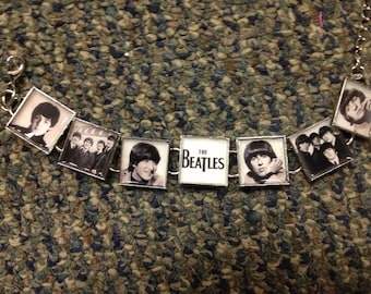 Early Beatles Coming to America link charm Bracelet FREE US shipping