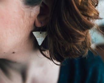 Stoneware Triangle Earrings