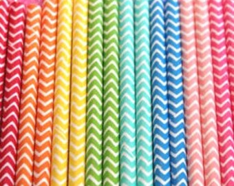 Chevron Paper Straws Perfect for any Birthday Party Baby Shower Wedding Bridal Shower Rainbow Party Birthday Decorations Favors Unicorn