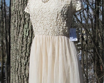 SALE - SALE -New Cream Lace Dress
