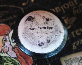 Vintage Knobs Confection - Farm Fresh Eggs Chicken Run