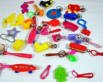 1980s Plastic Bell Charms - 1980s - Lot of 18