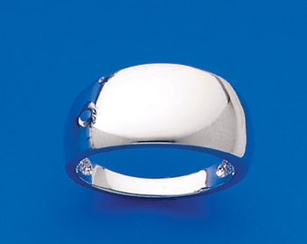 Sterling Silver cigar band ring.