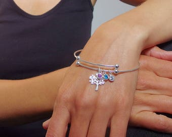 Personalized birthstone bracelet, Birthstone bracelet, Personalized bracelet,  Mother bracelet, birthstone jewelry, Personalized  jewelry