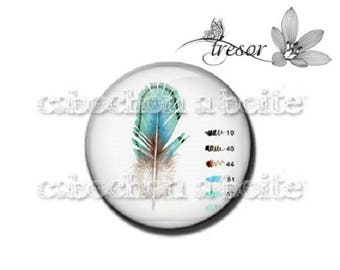PA643 glasses, Retro, feathers, color manual cabochons