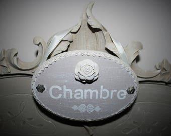 """Weathered wood """"Room"""" door plaque"""