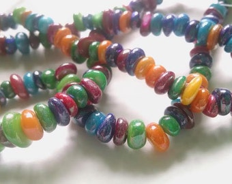 1 Strand Colorful Shell Beads AB 6mm x 8mm Jewelry Making Supplies - 41T