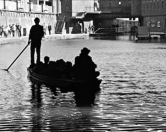 Regents Canal Print - Black and White Photography - London - Camden