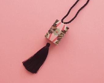 "Geometric Necklace // Art Deco Necklace // Tassel necklace // Tropical Necklace // Statement Necklace // The ""South Beach 2"""