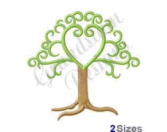 Heart Tree - Machine Embroidery Design